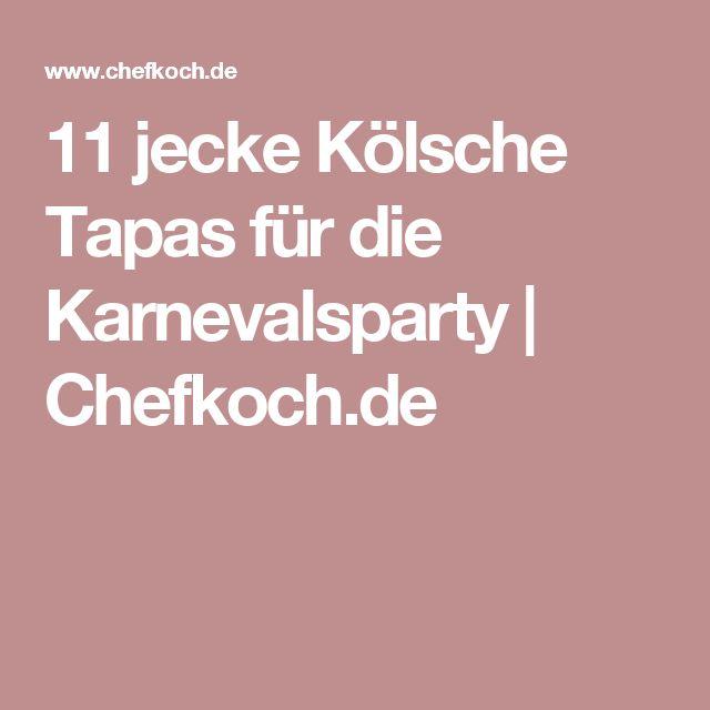 11 jecke Kölsche Tapas für die Karnevalsparty | Chefkoch.de
