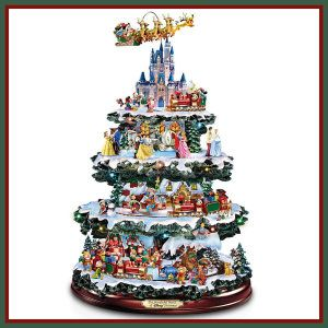 Disney Tabletop Christmas Trees: The Wonderful World Of Disney by The Bradford Exchange Invite Pluto, Peter Pan, Donald Duck, Pooh, Mickey and Minnie, and many more Disney Characters, into your home this Christmas. There are more than 50 hand painted Disney Characters. http://theceramicchefknives.com/ceramic-christmas-trees/