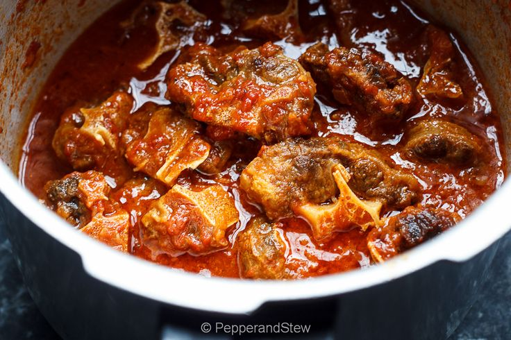 Oxtail Stew | Pepper and Stew African food | Pinterest | Stew, Oxtail ...
