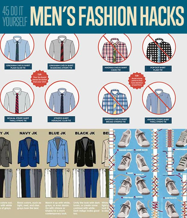 45 DIY Men's Fashion Hacks| Fashion Tips for Men | Amazing fashion tips to make your life easier. | DIY Projects for men from DIYReady.com #DIYMenProjects #DIYReady