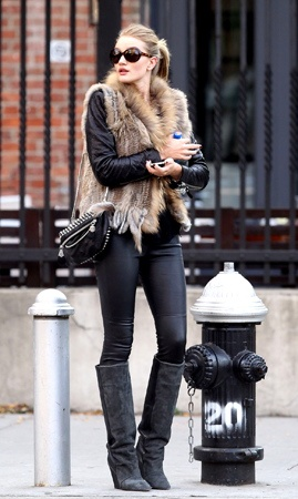 Like ~~ Fur vest ~ saw one in Kohl's the other day.