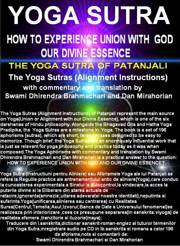 Patanjali Yoga Sutras(Aforismele Yoga) si Tao Te Ching(The Way to Inner Heaven) by DAN MIRAHORIAN   Patanjali Yoga Sutras  AN ANCIENT HANDBO...