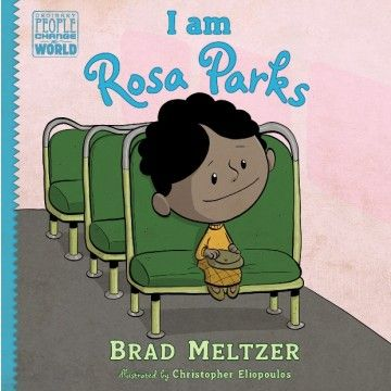 We read this last night. It was perfect for 4-6, and really made it easy to have a conversation about race, and more largely about difference. Rosa Parks is a personal hero of mine, so I was so happy to be able to share her story with the girls. I think the first person narration helped. Fictional Rosa talked spoke to children on their level. Will definitely buy it or take it out yearly. I Am Rosa Parks