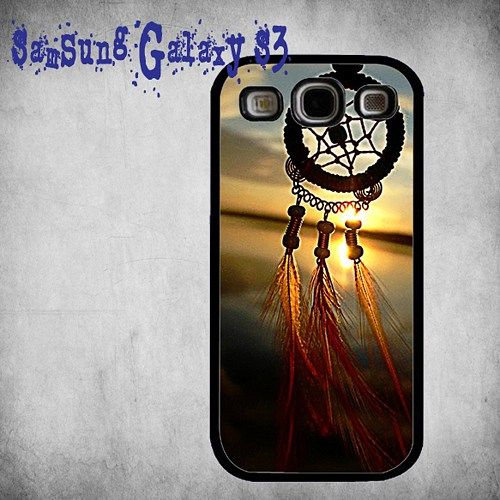 Beauty Dream Catcher Print On Hard Plastic Samsung Galaxy S3, Black Case
