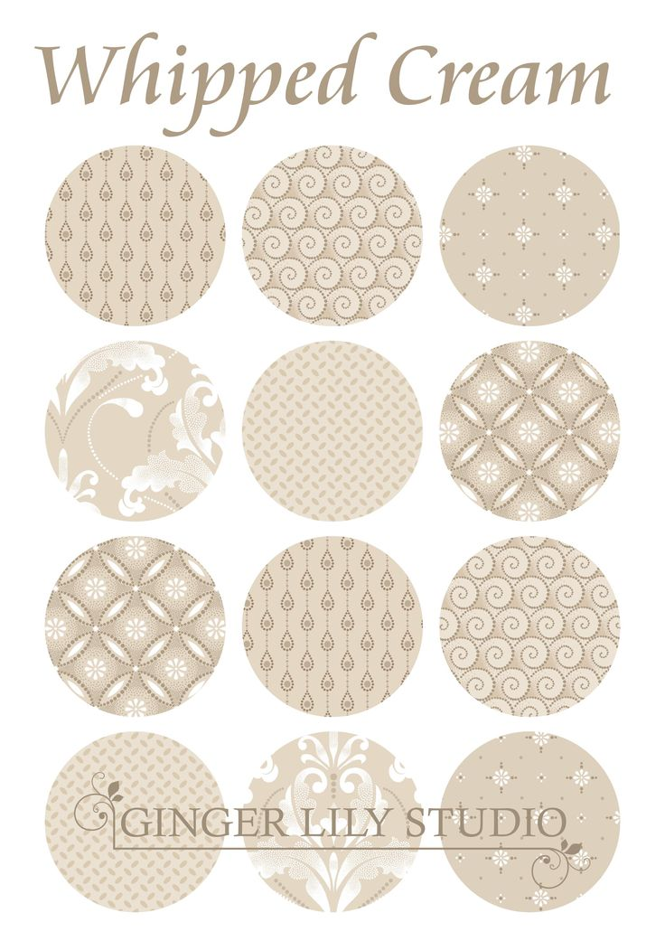 Whipped Cream Collection by Ginger Lily Studio