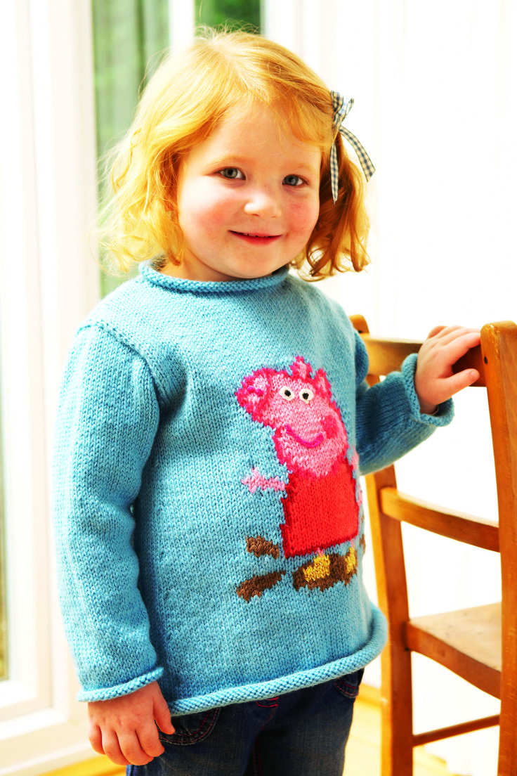 Knit this gorgeous Peppa Pig jumper for your little ones! Knitting Patterns...