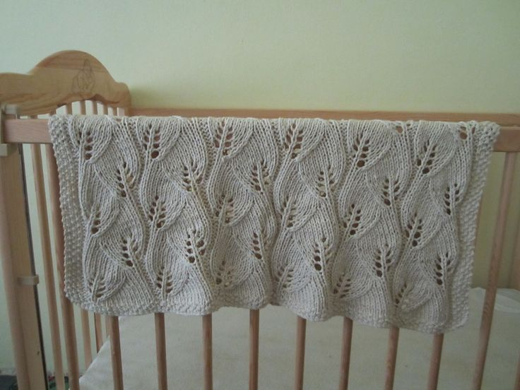 Free Knitting Pattern Leaf Baby Blanket : Pin by Theresa Allen on Knitting Pinterest