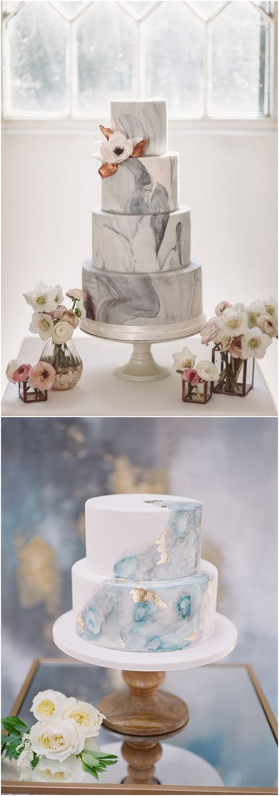 Marble wedding cake ideas #weddings #weddingcakes #cakes ❤️ http://www.deerpearlflowers.com/wedding-cake-trends/