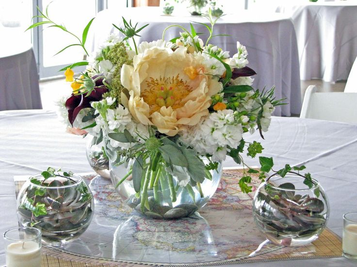 Wedding Table Fish Bowl Centerpieces Gallery Decoration Ideas