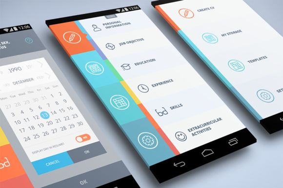 Amazing Android App UI. 10 pages by ikima on Creative Market