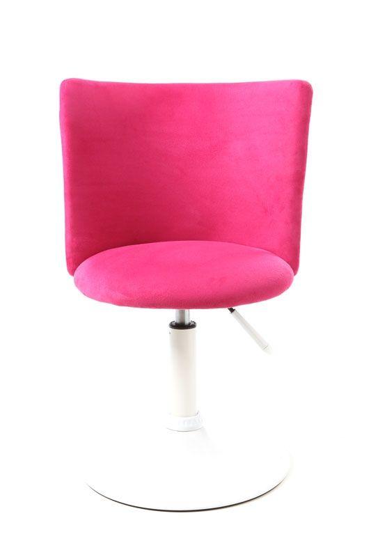 Silla de escritorio infantil rosa y blanca new marchande for Silla de escritorio