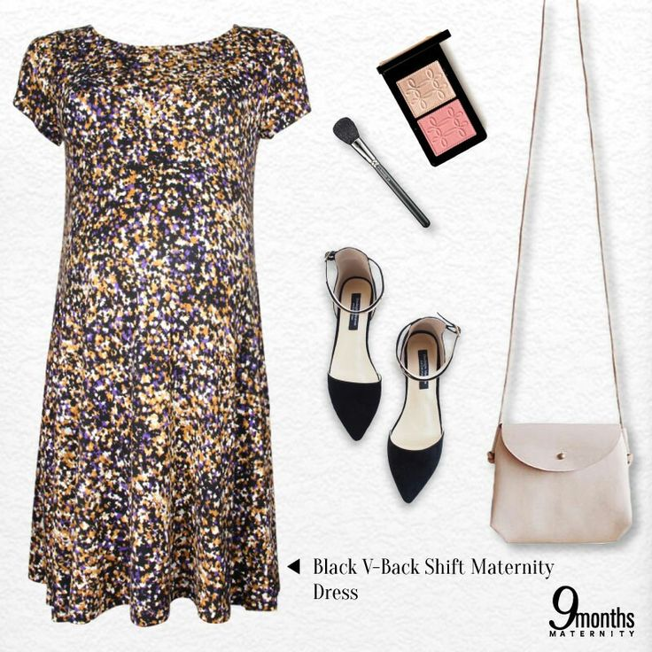 We want you to be camera-ready for this coming holiday.🏄 Our Black V-Back Shift Maternity Dress is your new autumn sunshine. Match it with light, warm hues: beige or white purse, strappy flats or a light make-up!💋 www.9monthsmaternity.com  Shop the look! Black V-Back Shift Maternity Dress → $35.58    #9monthsmaternity #9months #materniyfashion #maternitywear #maternityclothing #maternitydress #fashioninspiration #fashion