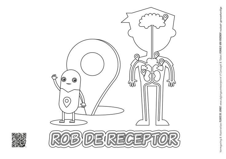 Kleurplaat - Rob de Receptor