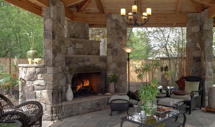 Outside Stone Fireplace Ideas: 17 Best Images About Outdoor Fireplace On Pinterest