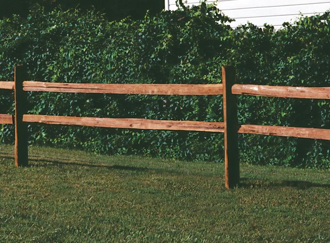 2 Rail Ranch Rail Wood Fencing Fences Pinterest