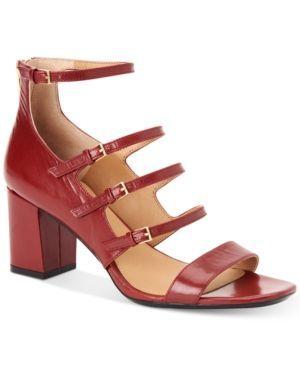 Calvin Klein Women's Caz Strappy Sandals - Red 8.5M