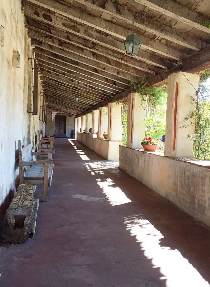 The Carmel Mission is known for its unique architecture. It's one of Carmel-by-the-Sea's most iconic structures.
