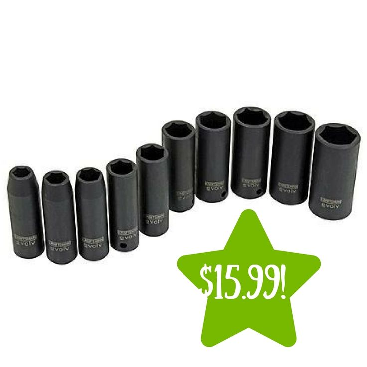 Sears: Evolv 10 pc. Deep Impact Socket Set SAE Only $15.99 (Reg. $50) - http://www.couponsforyourfamily.com/sears-evolv-10-pc-deep-impact-socket-set-sae-only-15-99-reg-50/
