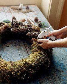 Pinecone Wreath - Martha Stewart Christmas