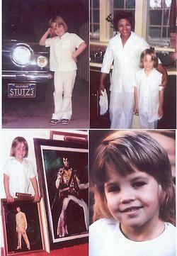 Elvis Aaron Presley and Lisa Marie Presley Photo: Little Lisa