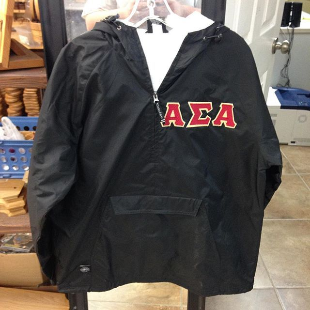 April showers bring May flowers? Maybe.  Something Greek has AWESOME rain jackets? Definitely. Visit our site to customize your very own jacket! #somethinggreek #sorority #fraternity #greeklife #itsgonnabemay