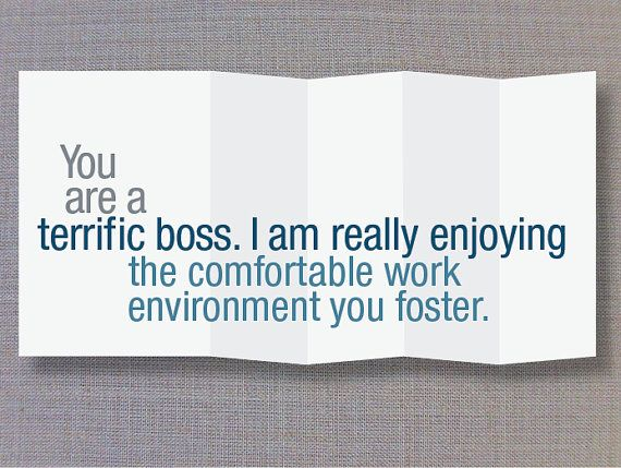 You are terrifying Card for Boss Foldout funny by FINCHandHARE