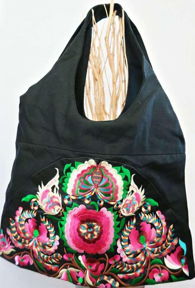 Tribal embroidered bag