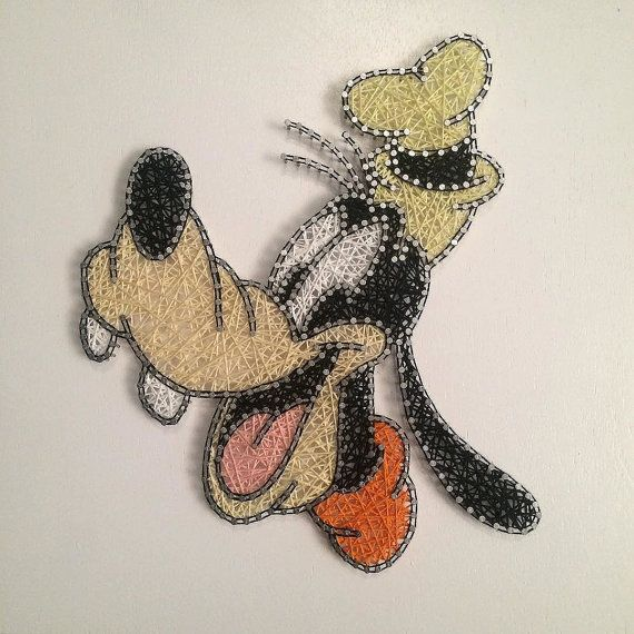 Disney's Goofy String Art by JBstringart on Etsy