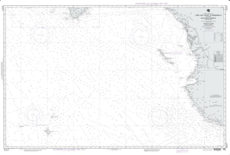Cabo San Lucas To Manzanillo Nautical Chart (21017) by National Geospatial-Intelligence Agency