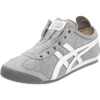 Onitsuka Tiger Women`s Mexico 66 Slip-On Sneaker,Heather Grey/White