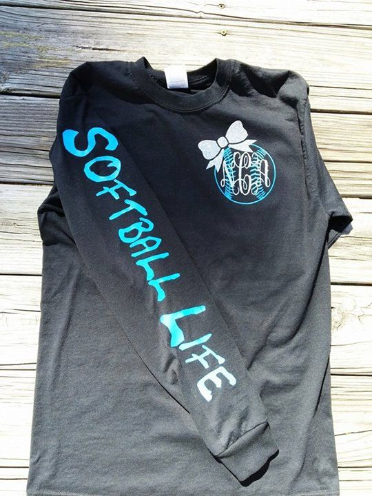 Hey, I found this really awesome Etsy listing at https://www.etsy.com/listing/223506549/softball-life-monogram-t-shirt