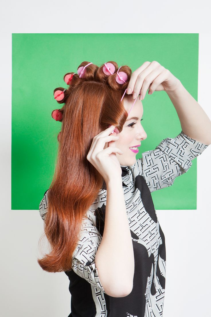 How To Rock 4 Awesome Vintage 'Dos #refinery29  http://www.refinery29.com/retro-hairstyles#slide13  As with the Coke cans, create rolls all the way to the nape of your neck in a mohawk shape, using one-inch sections of hair. Next, roll sections of hair at the sides of your head, starting at your temple and working your way back.