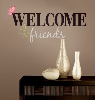 Welcome Friends Peel & Stick Wall Decals Wall Decal at AllPosters.com