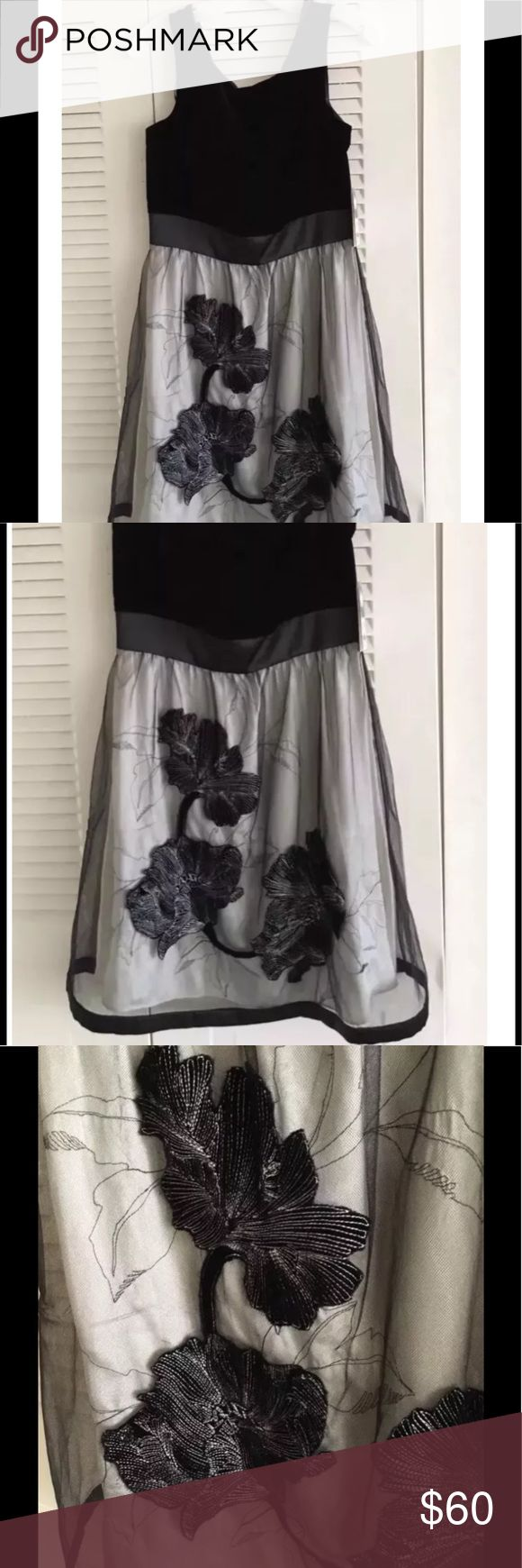 Donna Ricco dress size 8 This is a beautiful and new with tags Donna Ricco dress. It is size 8. Simple and beautiful. The upper part is all black velvet. It retails in stores for $148. Check the images and feel free to ask questions or leave comments ❤️ Donna Ricco Dresses Midi