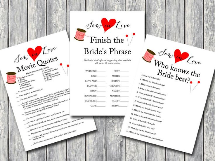 sew in Love Bridal Shower Game Printables, Bachelorette games, Wedding Shower Game, sewing theme, Bridal Shower Quiz, Activities BS67 by MagicalPrintable on Etsy https://www.etsy.com/listing/237089900/sew-in-love-bridal-shower-game