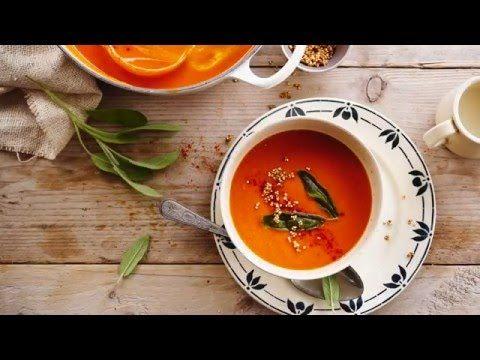 Alpro | Recept Inspiratie | Geroosterde paprika-pastinaaksoep met gepofte quinoa