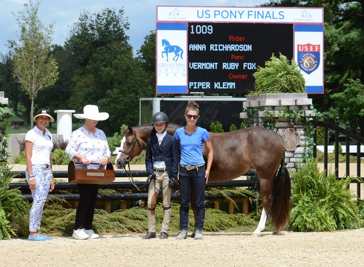 Vermont Ruby Fox & Anna Richardson, Pony Finals 2016