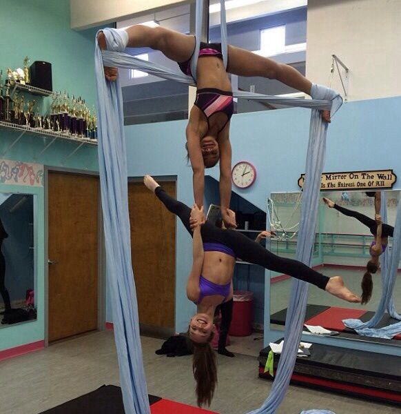 Maddie and nia on silks