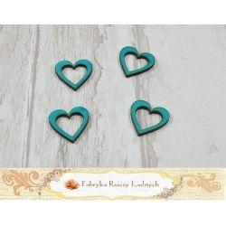 Colour wooden heart