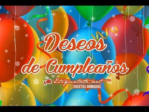 Deseos de Cumpleaños Gratis VER EN ░▒▓██► http://etiquetate.net/deseos-de-cumpleanos-gratis/