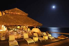 Moon light at Theros beach in Vlihada, Santorini island, Greece. - Selected by www.oiamansion.com