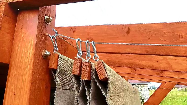 Diy simple retractable canopy for your pergola youtube
