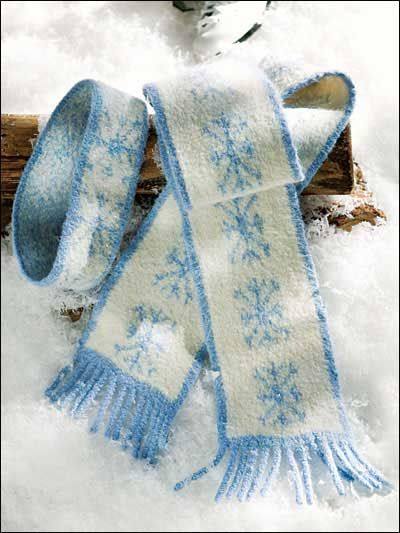 Knitting Patterns For Scarves Free Download : Free Snowflake Scarf & Headband Knit Pattern -- Download this free headba...