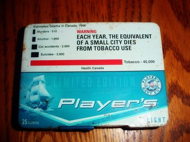 Players Cigarette Tobacco tin Holder  Priced at $2.65 CAD plus shipping or can be picked up !