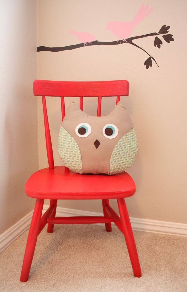 My mom just scooped us up a wooden rocking chair for Alma, spray paint would be a great way to jazz it up!