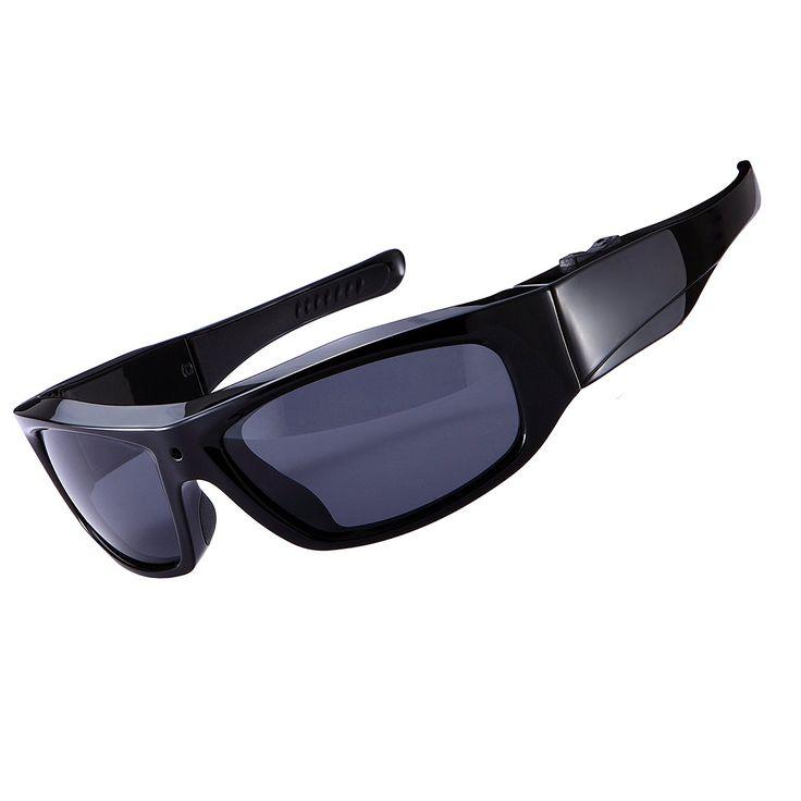 DCCN Spy Brille Spionage Kamera Brille Spy Cam Brille polarisierte Sonnenbrille mit Kamera UV400 für Radfahren Motorad Bike: Amazon.de: Sport & Freizeit