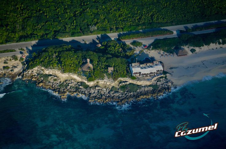 Cozumel from above. #ventanasalmar #coconuts #cozumel Flycozumel.com
