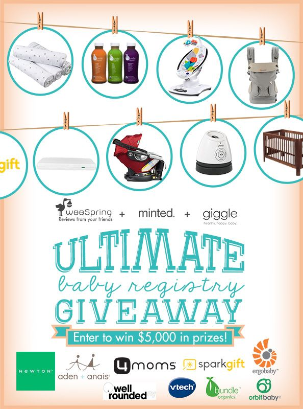 You could win almost $5,000 in baby gear and goodies in weeSpring's Ultimate Baby Registry giveaway.