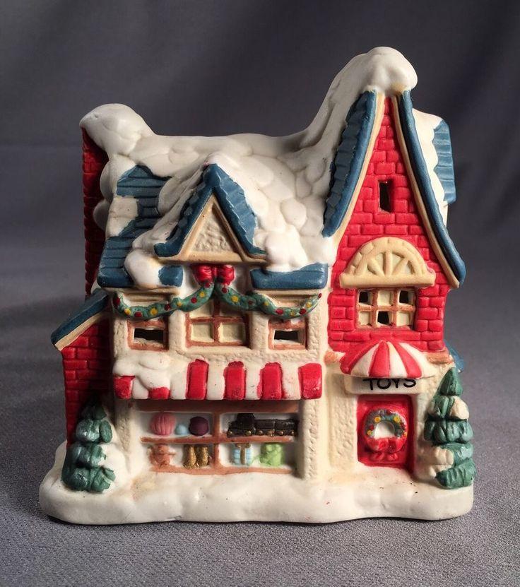 Mervyn's Village Square 1994 Light Up Toy Store 4 1/2 Inches Christmas Village #Mervyns