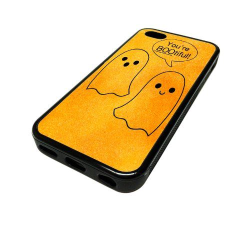 For Apple iPhone 5C 5 C Case Cover Skin Ghost Boo Halloween Cute Funny DESIGN BLACK RUBBER SILICONE Teen Gift Vintage Hipster Fashion Design Art Print Cell Phone Accessories MonoThings,http://www.amazon.com/dp/B00JELX6SO/ref=cm_sw_r_pi_dp_gUZotb0B4SSNQ9RA